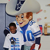 Dallas Cowboys Mascot Visits Cabaniss : The 4th graders of Cabaniss Elementary received a surprise visit February 28, from Rowdy, the mascot of the Dallas Cowboys! Rowdy did a wonderful job of motivating the students for their upcoming TAKS test.