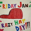 "Imogene Gideon Elementary School Crazy Hat Day : Imogene Gideon Elementary Celebrated ""Crazy Hat Day"" on January 21, 2011.  The halls were lined with decorative posters made by their Student Council.  That morning the students of all grade levels and staff were styling in their best hats."
