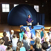 "J.L. Boren - Mobile Planetarium : On January 20, 2012, the third grade classes from J.L. Boren enjoyed a special presentation called ""Sun-Earth-Moon Connections."" This exhibit from the Fort Worth Museum of Science and History is a mobile planetarium that allows students to take a closer look at the solar system."
